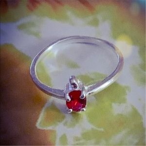 VBG Jewelry - STAMPED 925 Sterling Silver Red Ruby Ring